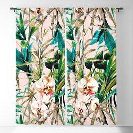 Pattern floral tropical 001 Blackout Curtain