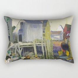 """George Wesley Bellows """"Matinicus"""" Rectangular Pillow"""
