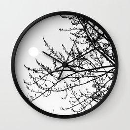 Winter Evening Wall Clock