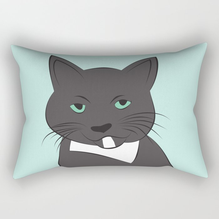 Meow, meow. Rectangular Pillow