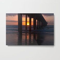 Sunset Captured Metal Print