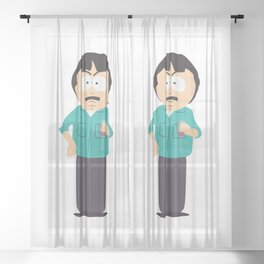 Randy Marsh wit a Glass of Redwine Sheer Curtain