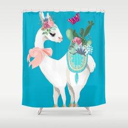 My little lama Shower Curtain