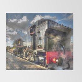 Steam Locomotive 1501 at Bewdley Throw Blanket