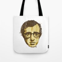 woody Tote Bags featuring Woody by Ross Zietz