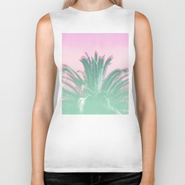 Palm Tree Leaves Tropical Vibes Design Biker Tank