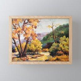 Fall Landscape Scene, Painting Framed Mini Art Print