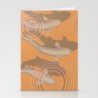 trout Stationery Cards featuring Rainbow Trout by Great Gray Art
