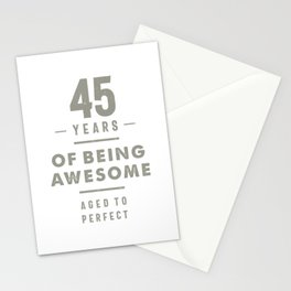 45 Years Old Birthday Gift Stationery Cards
