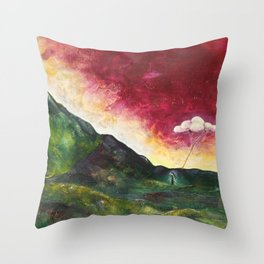 Watering Time Throw Pillow