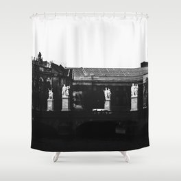 In a place as hazy as heaven, minds ascended and bodies went numb. Shower Curtain