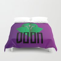 doom Duvet Covers featuring MF DOOM by Tonytintheplace