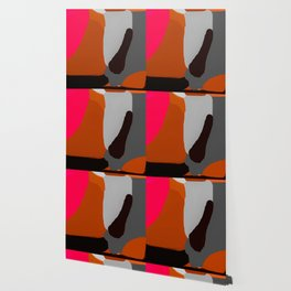 Abstract in Pink, Brown and Grey Wallpaper