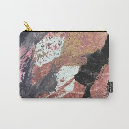 01015: colorful pink purple and gold abstract Carry-All Pouch