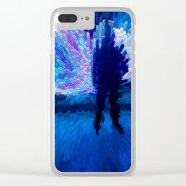 Man Clear iPhone Case