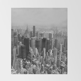 New York City Black and White Throw Blanket