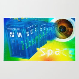 TARDIS Time and Relative Dimension in Space Rug