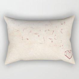 Music Heart old paper Rectangular Pillow