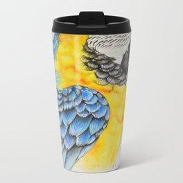 Blue and gold Macaw Metal Travel Mug
