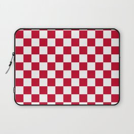 Red and White Check Laptop Sleeve