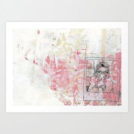 Sausage Polaroid Art Print