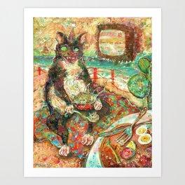 Beast Blanket Bingo Feast Art Print