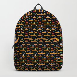 Bubble Bobble Retro Arcade Video Game Pattern Design Backpack