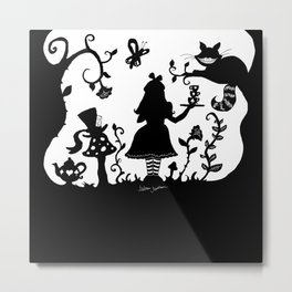 Welcome To Wonderland Metal Print