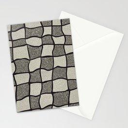 Swirly Tweed Check Design - Beige Stationery Cards