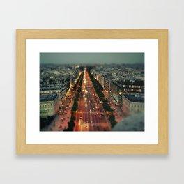 champs elysees Framed Art Print