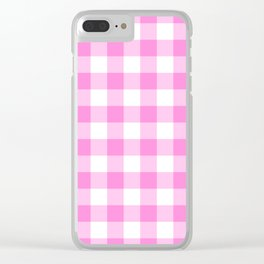 Pink Buffalo Check - more colors Clear iPhone Case
