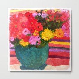 Santa Fe Patio Bouquet Metal Print