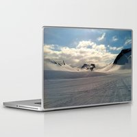 iceland Laptop & iPad Skins featuring Snowcapped Iceland by tyler Guill