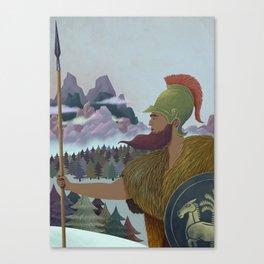 Hannibal crossing the Alps Canvas Print