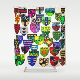 Shield Shapes 2 Shower Curtain
