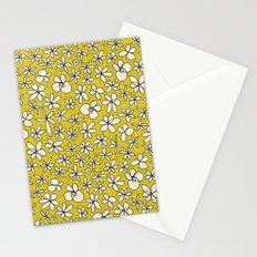 garland flowers yellow Stationery Cards