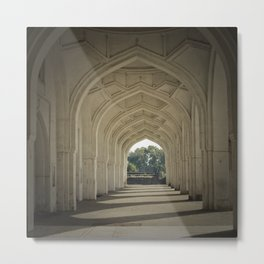Arched colonnade Metal Print