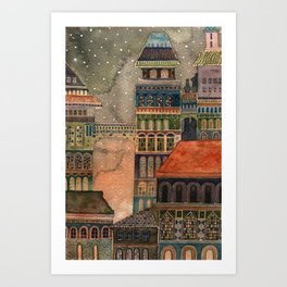 first snow Art Print