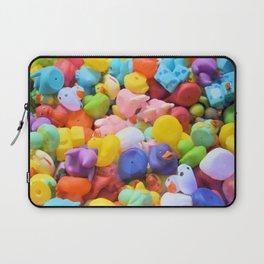 Rainbow Rubber Ducks Laptop Sleeve