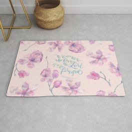 A Woman to be Praised - Proverbs 31:30 - For Mothers Rug