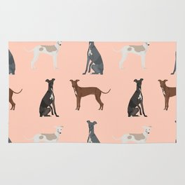 Italian Greyhound dog breed pet portrait unique pure breed gifts Rug