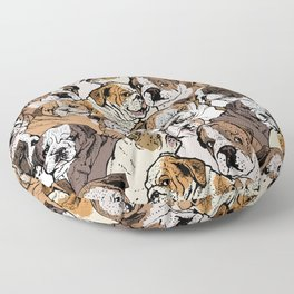 Social English Bulldog Floor Pillow