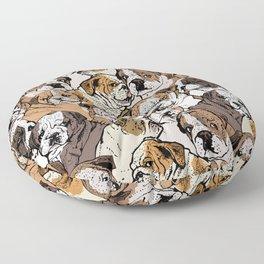 Social English Bulldog Floor Pillow