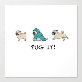 PUG, PUGS (great on teeshirts)! Canvas Print