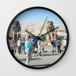 The Clossi of memnon at Luxor, Egypt, 3 Wall Clock