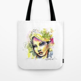 Abstract watercolor portrait Tote Bag