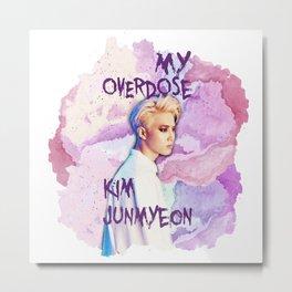 Kim Junmyeon Metal Print