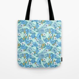 Weapon Floral-Blue Tote Bag