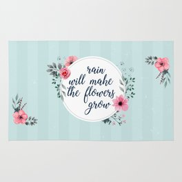 Rain Will Make The Flowers Grow #3 Rug
