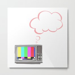 Thoughts from a broken TV Metal Print